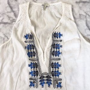 Joie Embroidered Tank